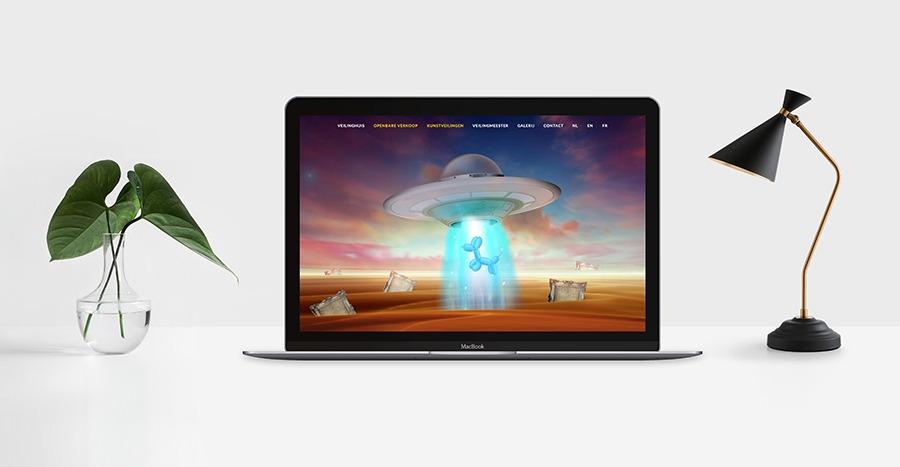webdesign nieuw veiling