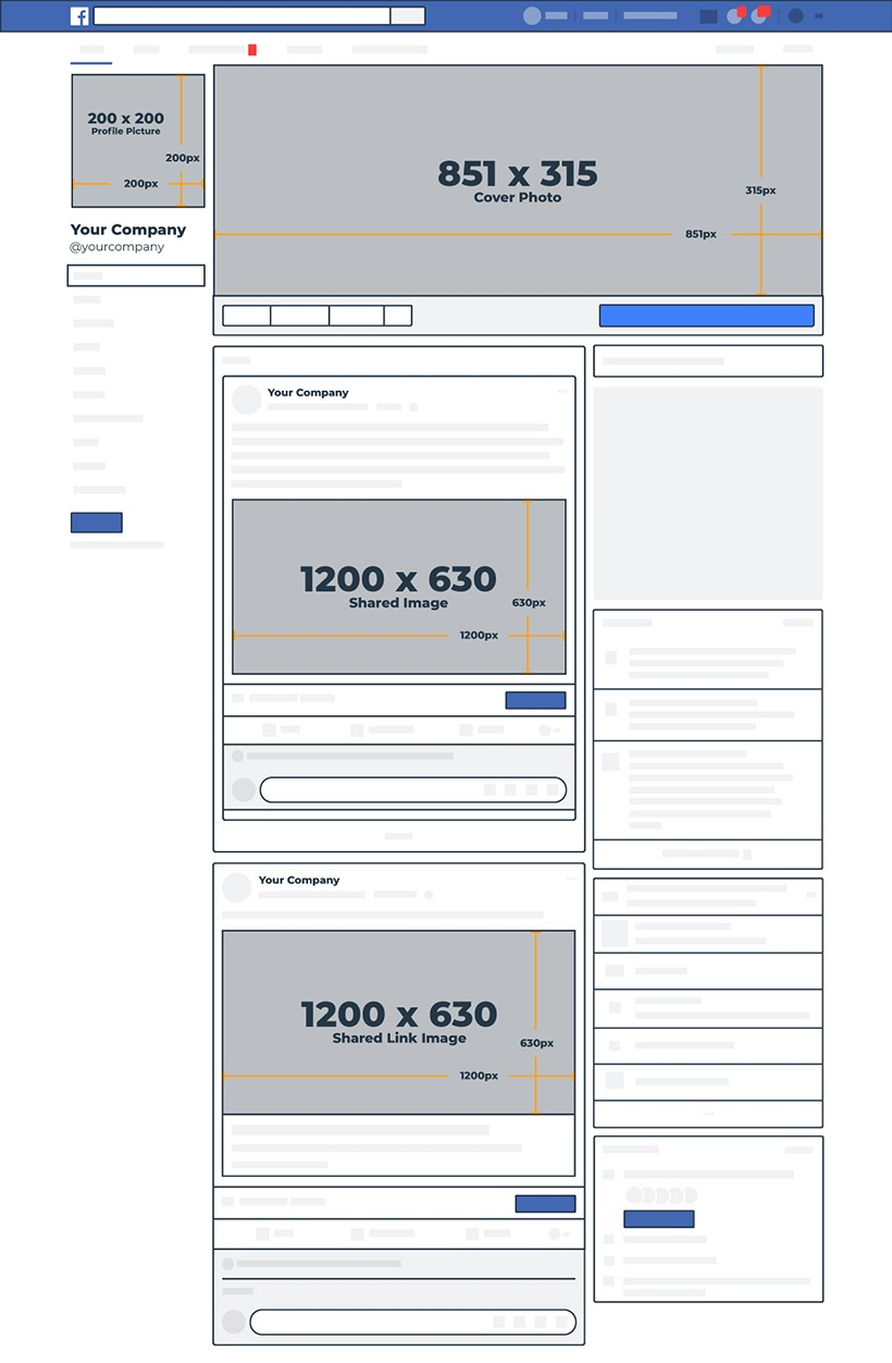 socialmedia afmetingen facebook